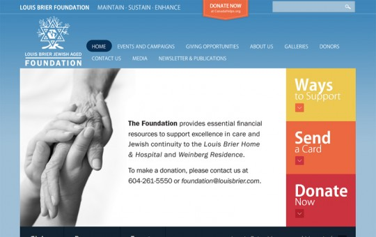 Louis Brier Foundation: Design + WordPress development